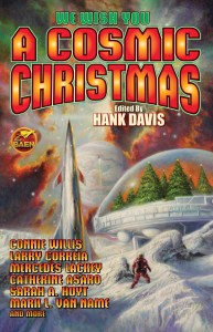 "Cover of ""A Cosmic Christmas"", an anthology edited by Hank Davis."