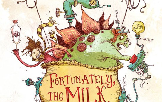 "Cover of ""Fortunately, the Milk"" by Neil Gaiman."