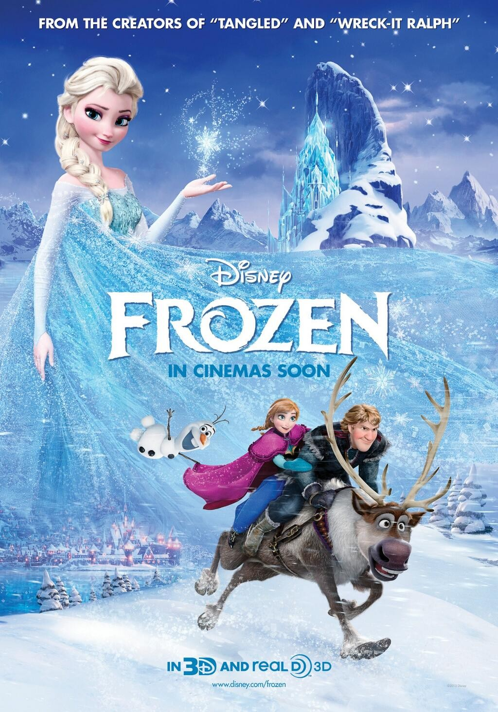 "Theatrical poster for Disney's ""Frozen""."