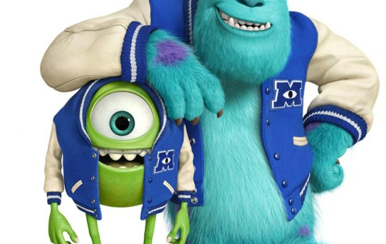 "Theatrical poster for ""Monsters University"", featuring Mike and Sulley."