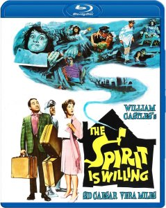 "Cover of the Blu-ray release of ""The Spirit Is Willing""."