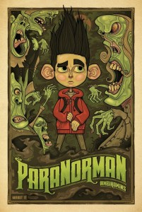 "Theatrical teaser poster for ""ParaNorman""."