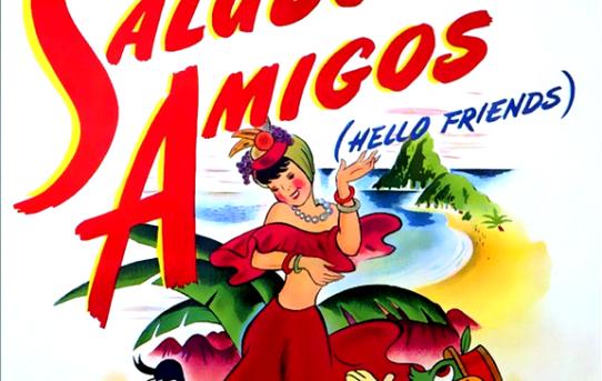 """Poster for """"Saludos Amigos""""."""