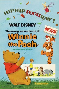 "Theatrical poster for ""The Many Adventures of Winnie the Pooh""."