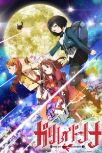 "Poster advertising the ""Galilei Donna"" anime television series."