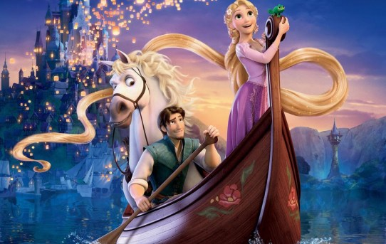 "Poster image from Disney's ""Tangled""."