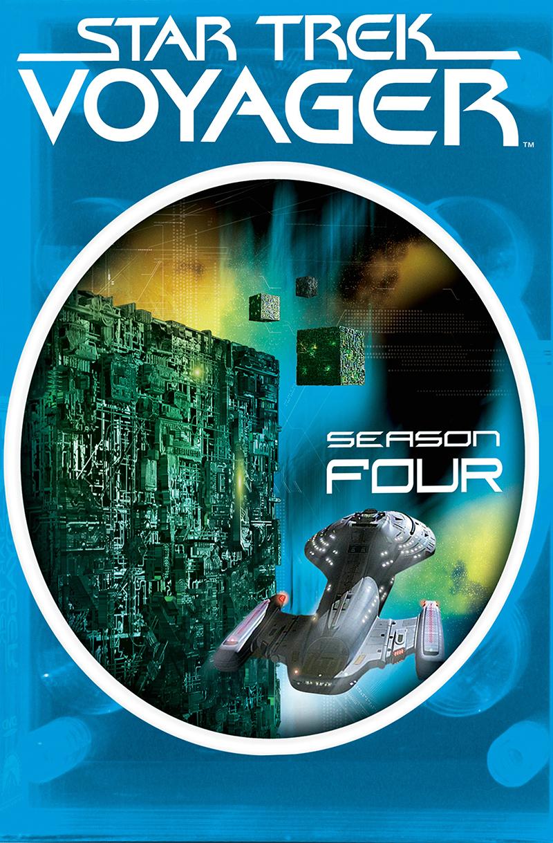 """""""Star Trek Voyager"""" - season 4 DVD cover."""