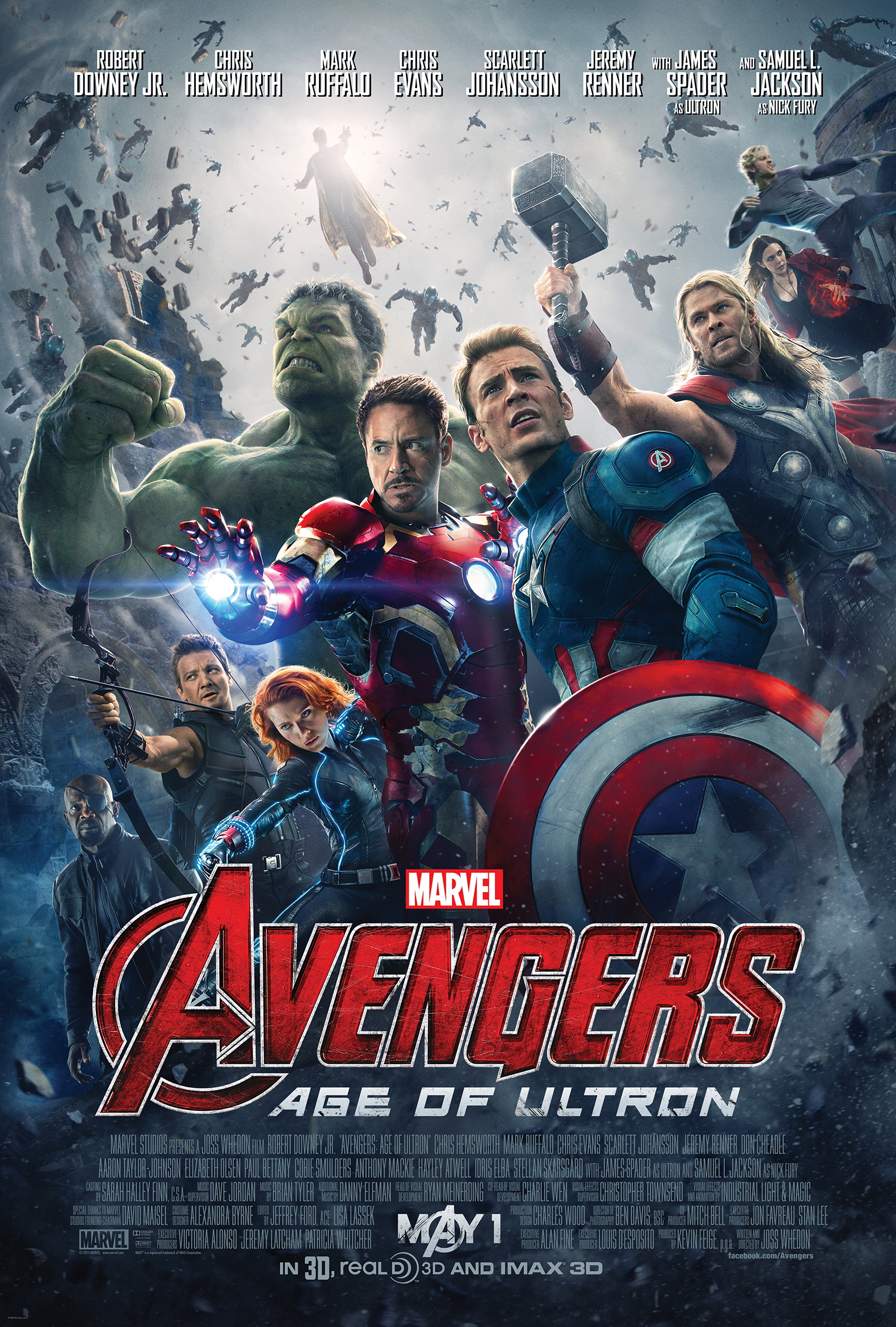 """Avengers - Age of Ultron"" theatrical teaser poster."