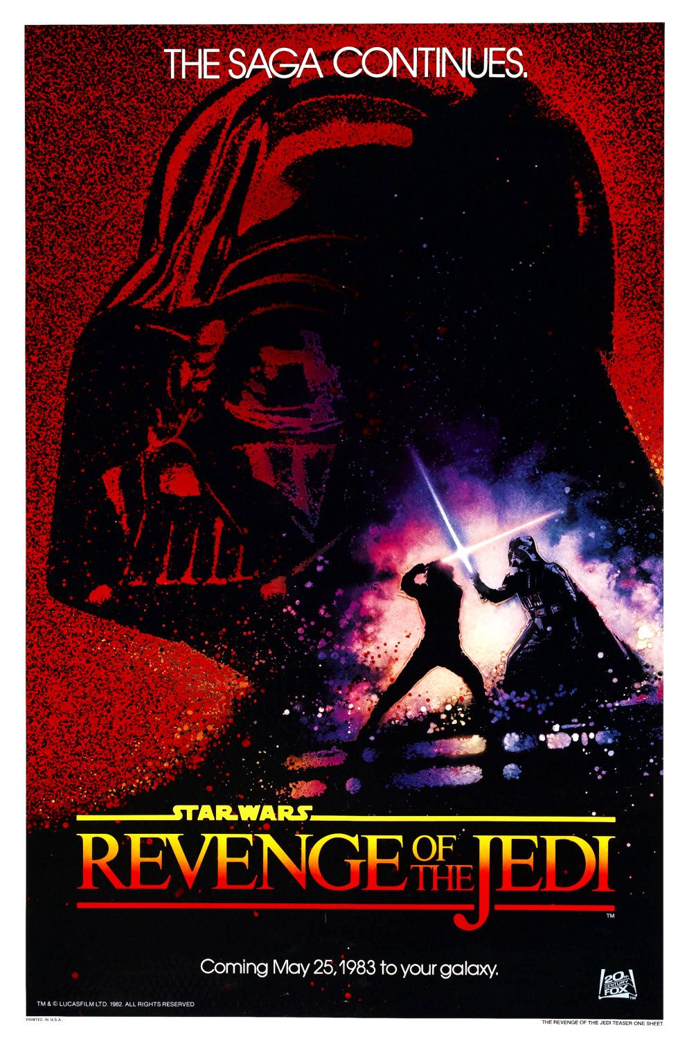 """Revenge of the Jedi"" theatrical teaser poster."