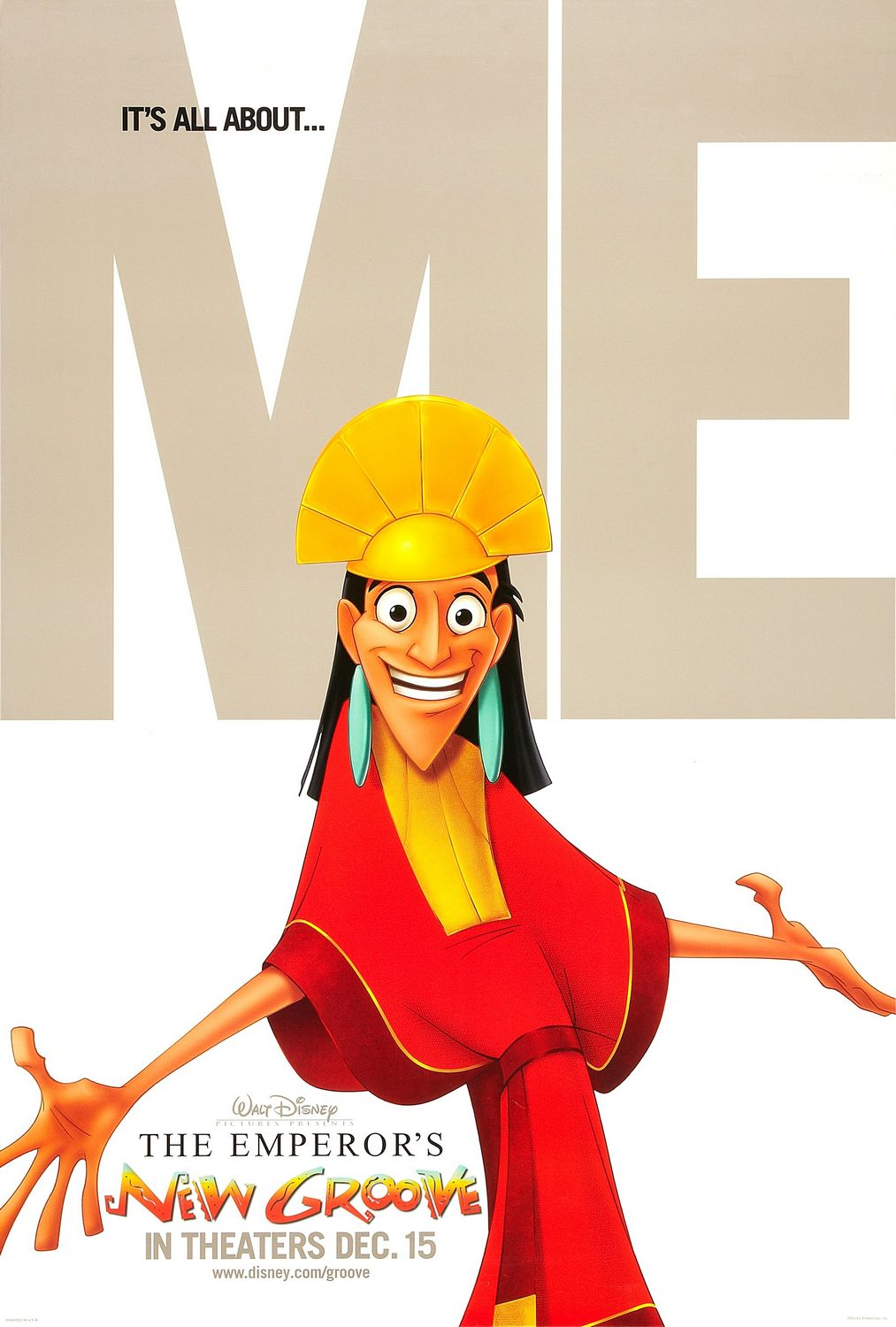 """The Emperor's New Groove"" theatrical teaser poster."
