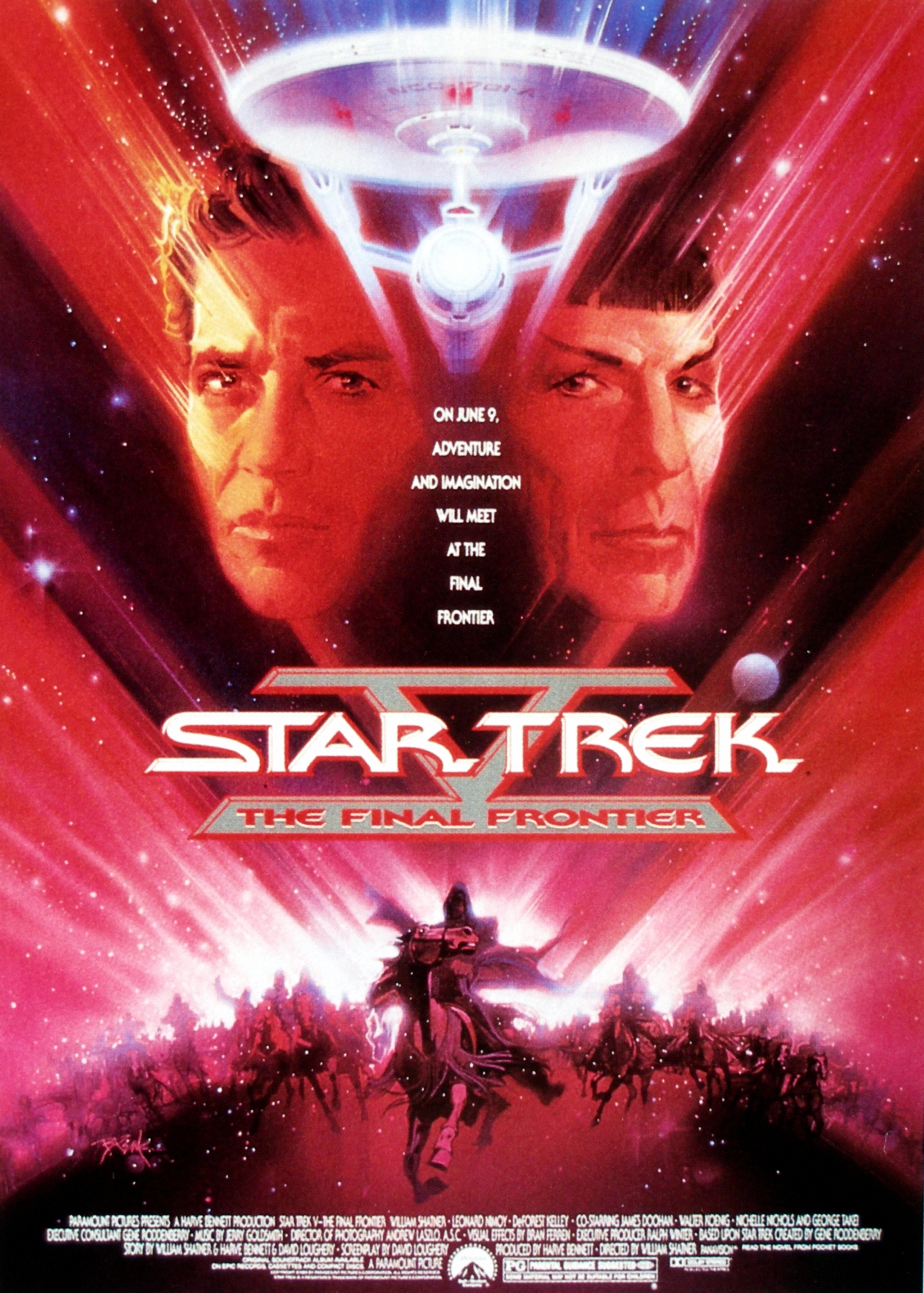 """Star Trek V - The Final Frontier"" theatrical poster."