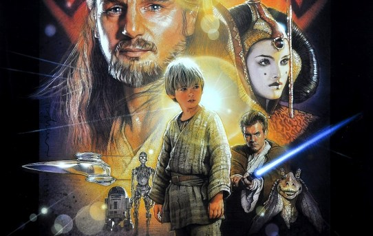 """Star Wars Episode I - The Phantom Menace"" theatrical teaser poster."