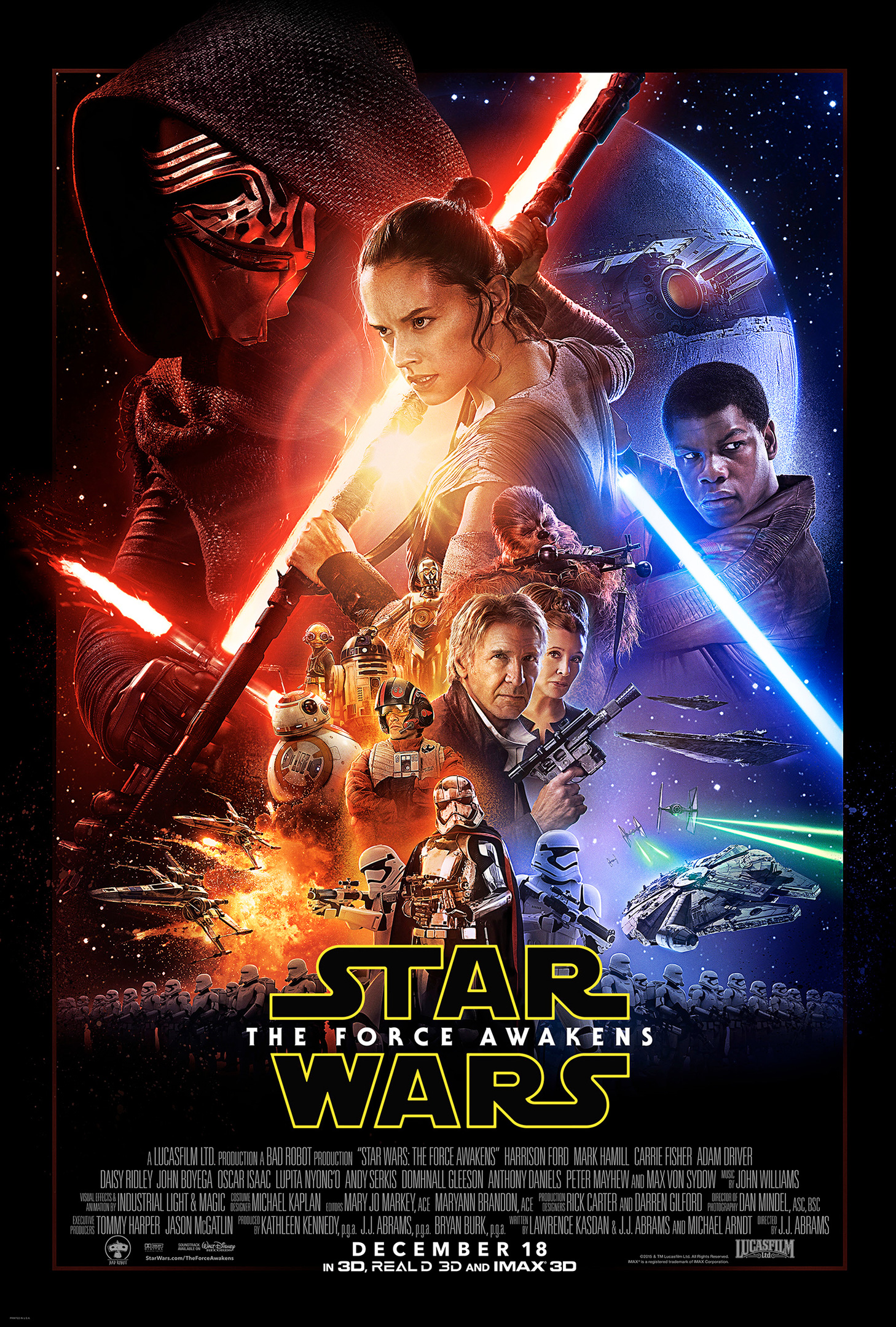 """Star Wars - The Force Awakens"" theatrical teaser poster."
