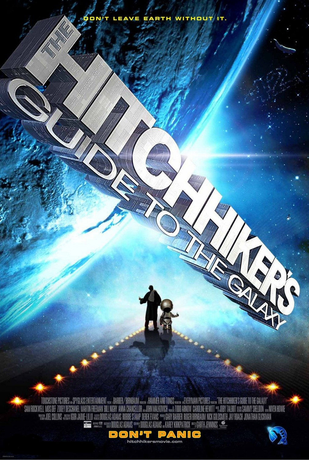 """The Hitchhiker's Guide to the Galaxy"" theatrical teaser poster."