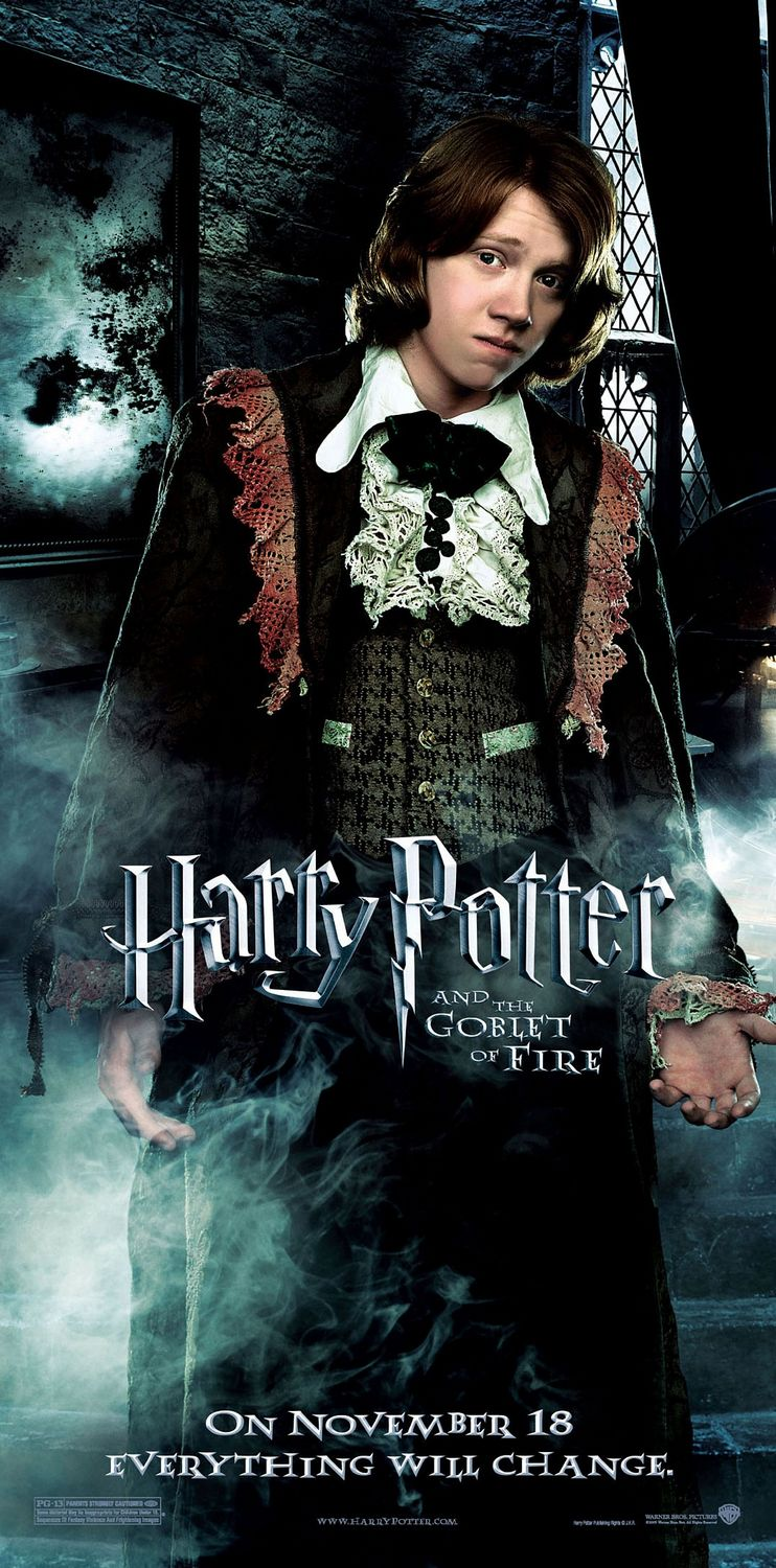 """""""Harry Potter and the Goblet of Fire"""" - Ron's dress robes theatrical teaser poster."""