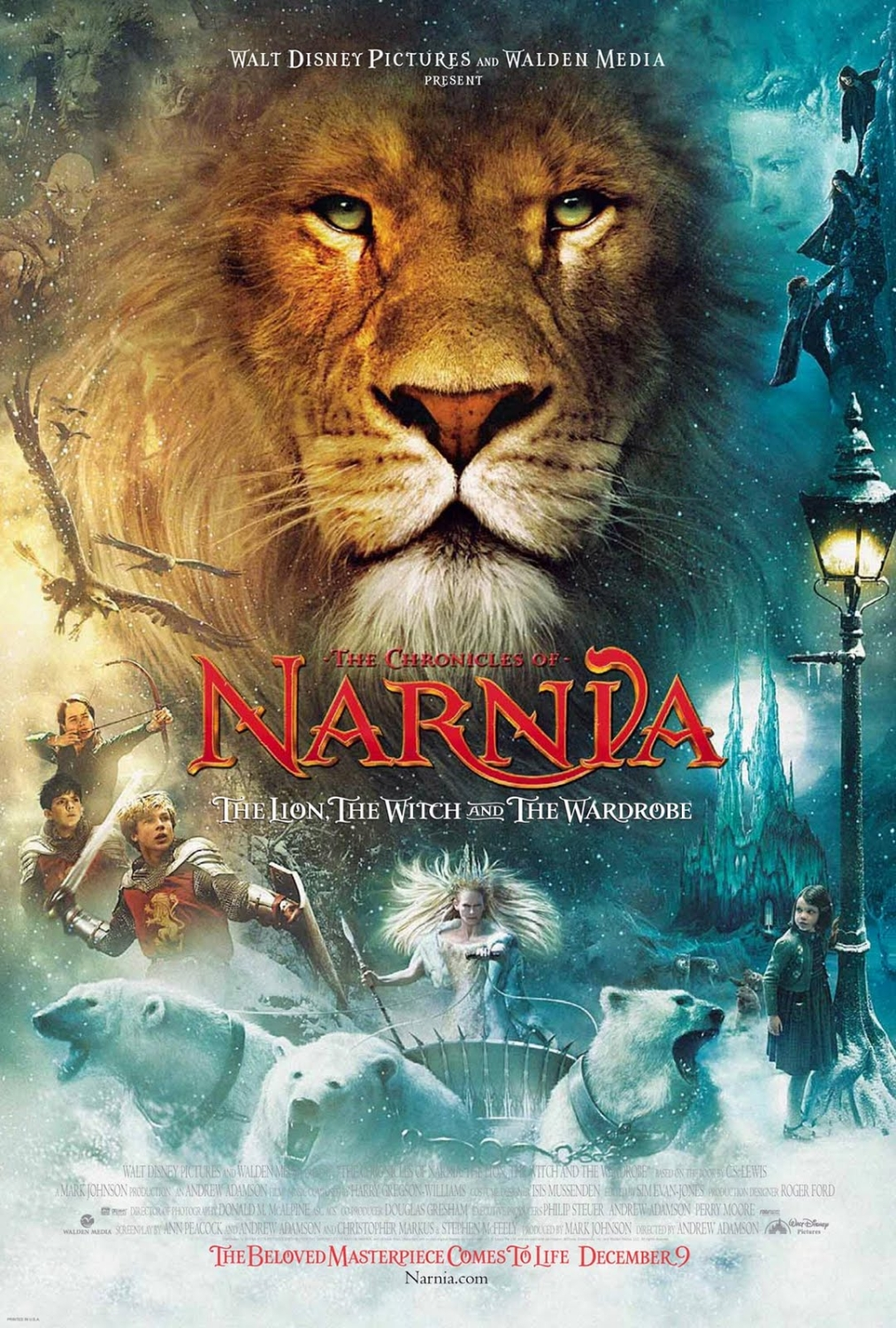 """""""The Lion, the Witch and the Wardrobe"""" theatrical teaser poster."""