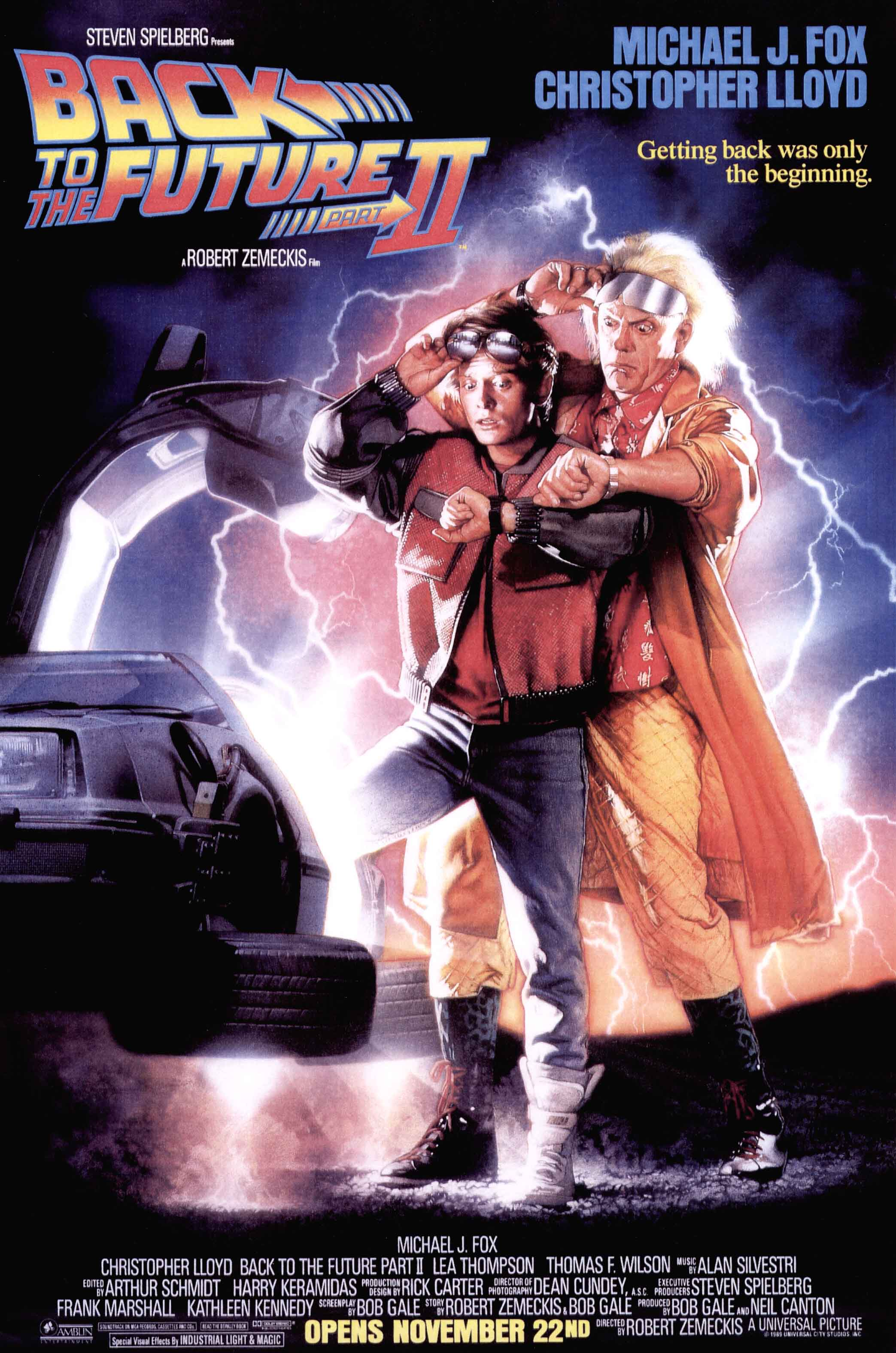 """Back to the Future Part II"" theatrical teaser poster."