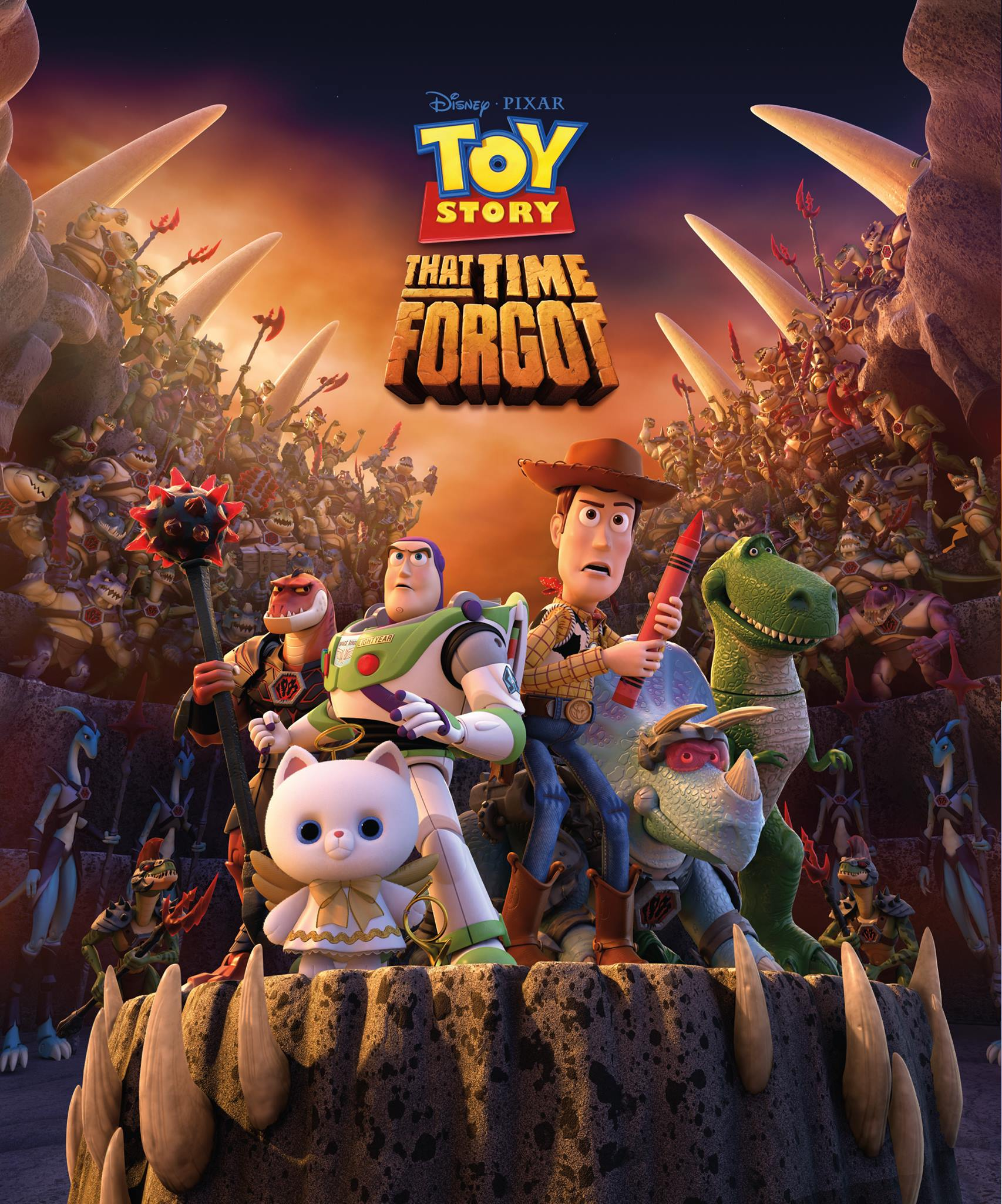 """""""Toy Story That Time Forgot"""" television special poster."""