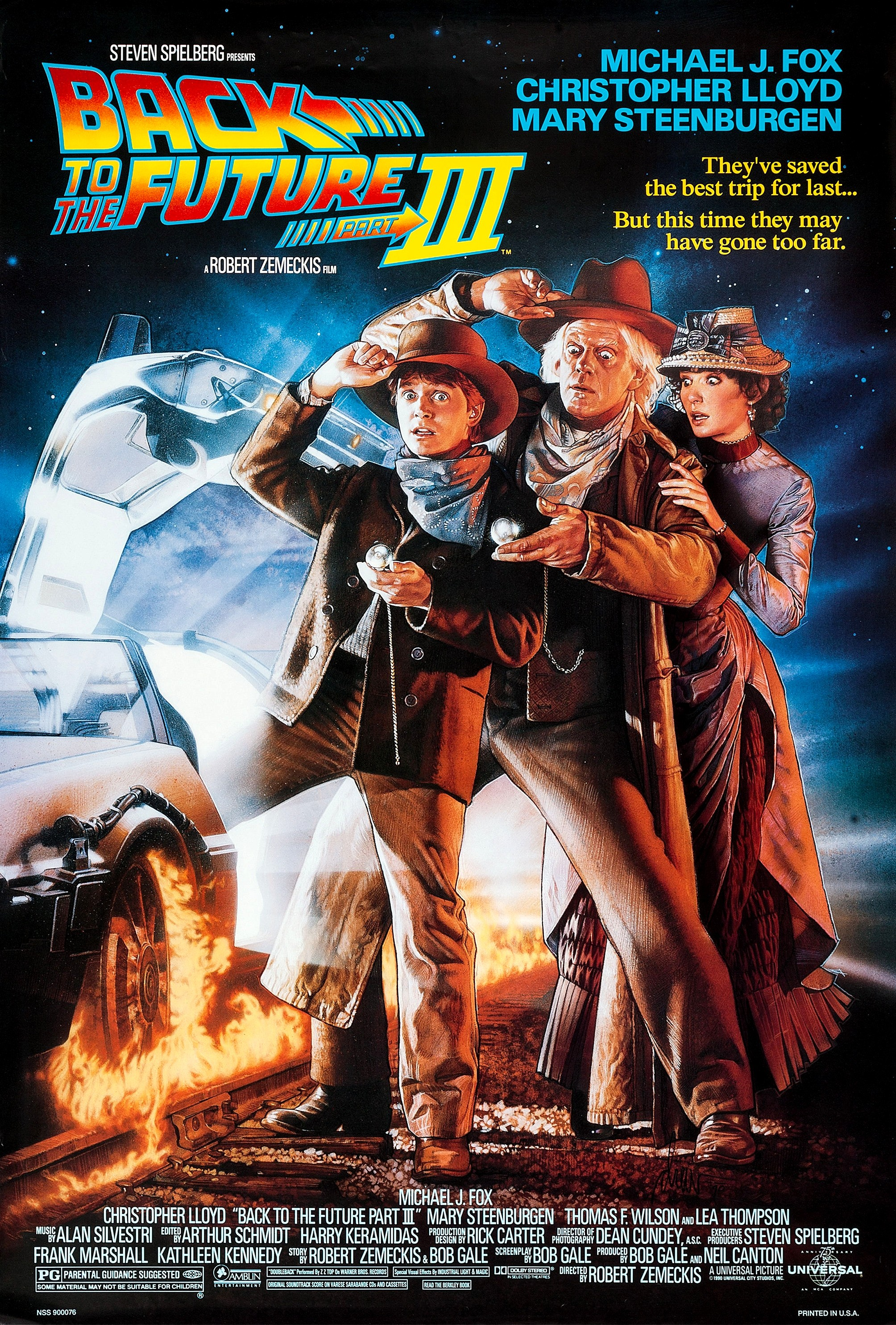 """Back to the Future Part III"" theatrical teaser poster."
