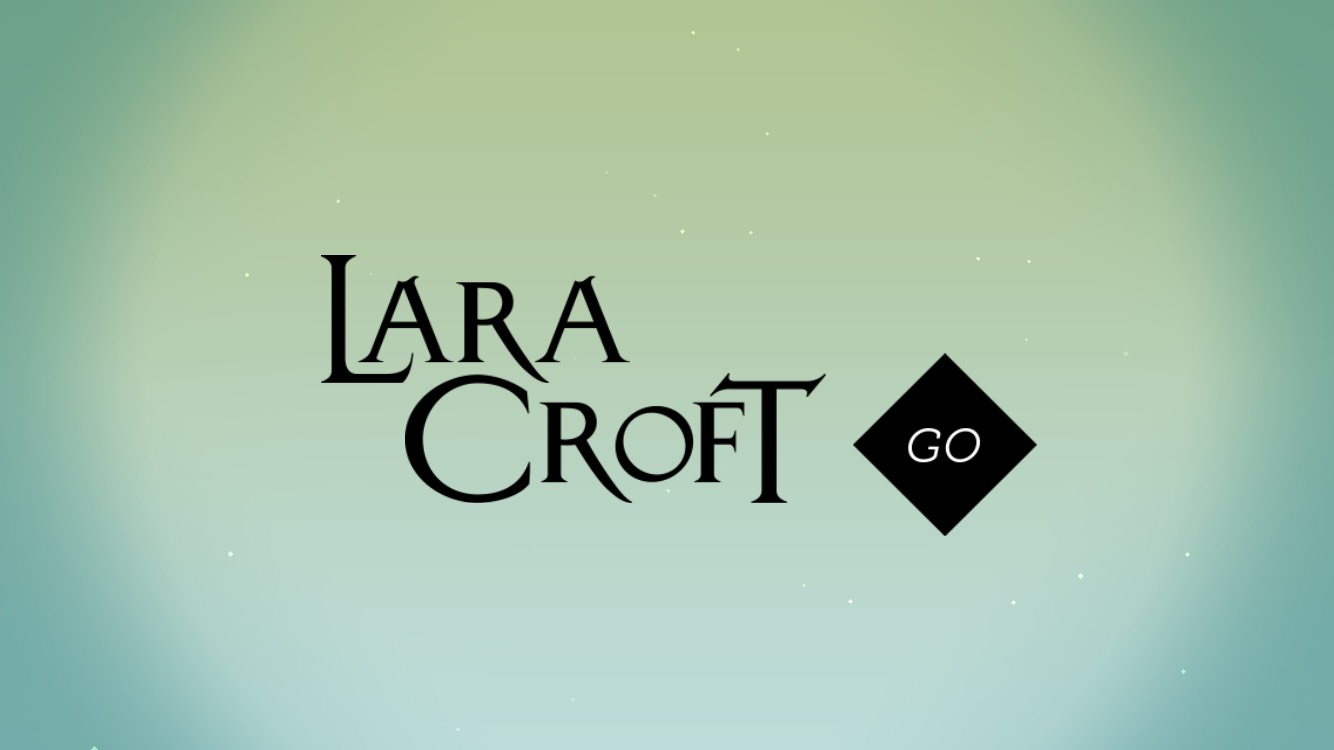"""Lara Croft Go"" logo screen."