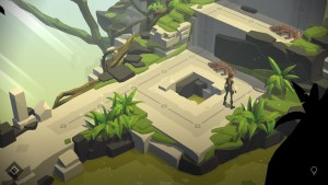 """Lara Croft Go"" screenshot."