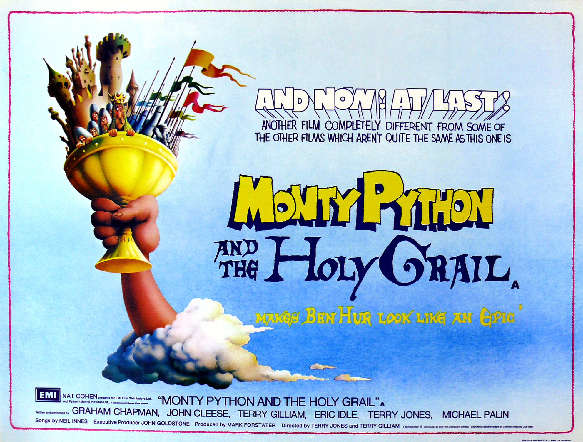 """Monty Python and the Holy Grail"" poster."