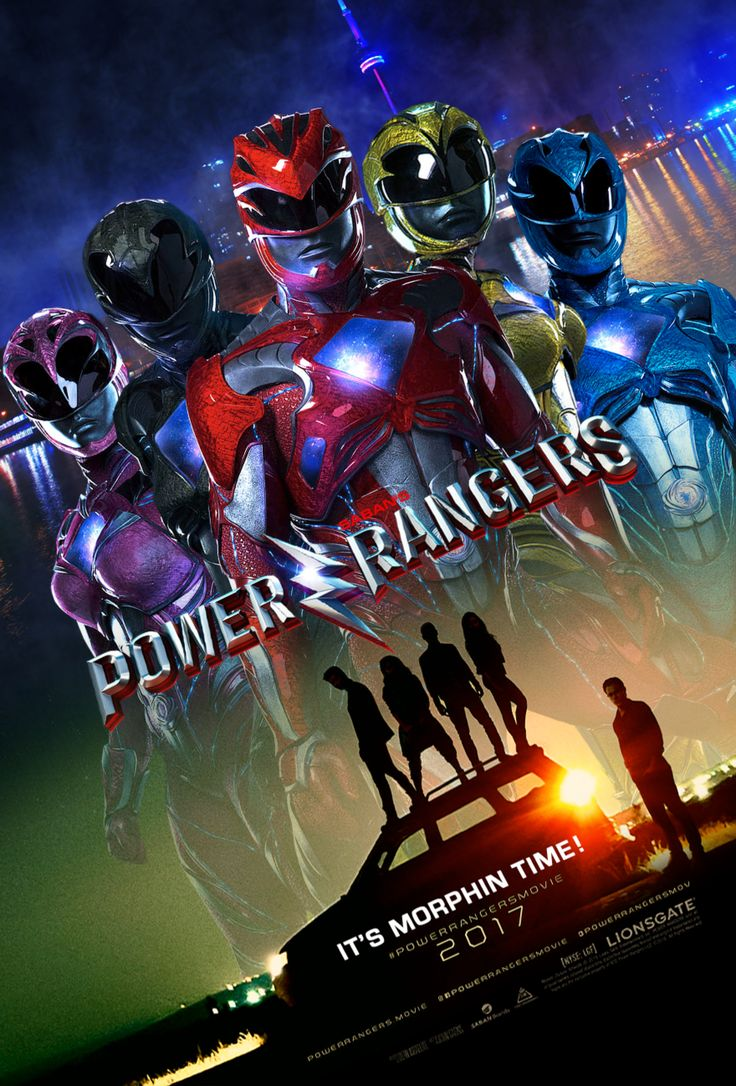 """Power Rangers"" 2017 theatrical teaser poster."