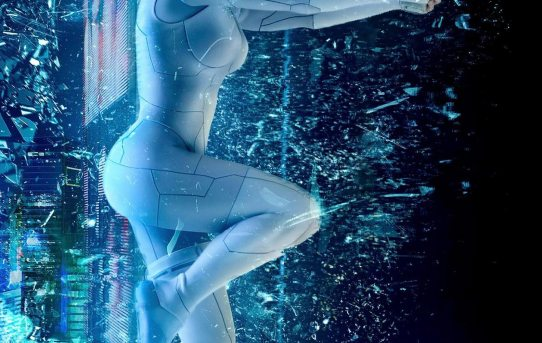 """Ghost in the Shell"" 2017 theatrical teaser poster."