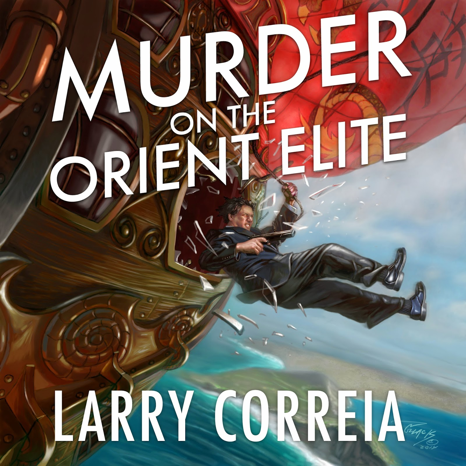 """""""Murder on the Orient Elite"""" by Larry Correia audiobook."""