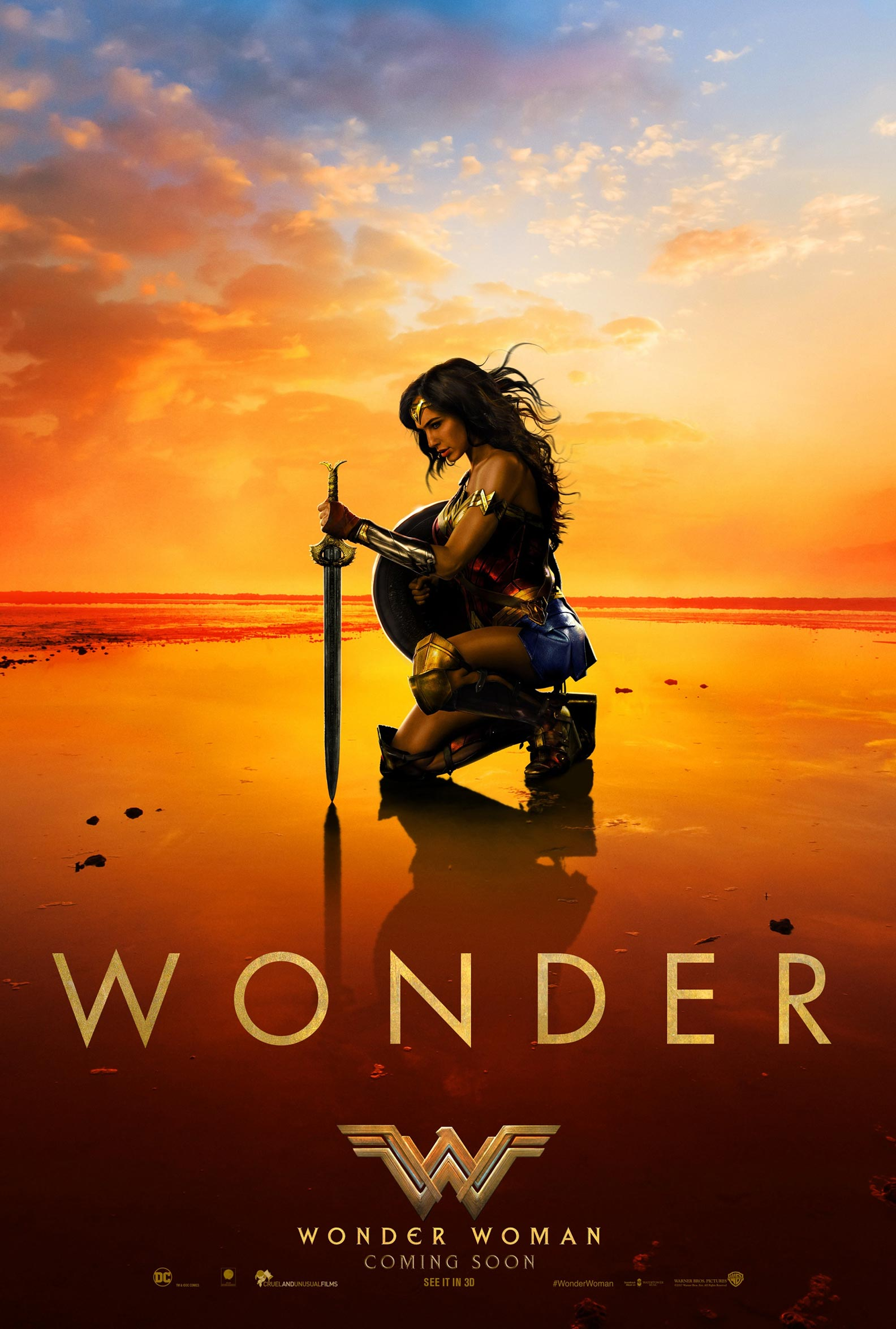 """""""Wonder Woman"""" theatrical teaser poster."""
