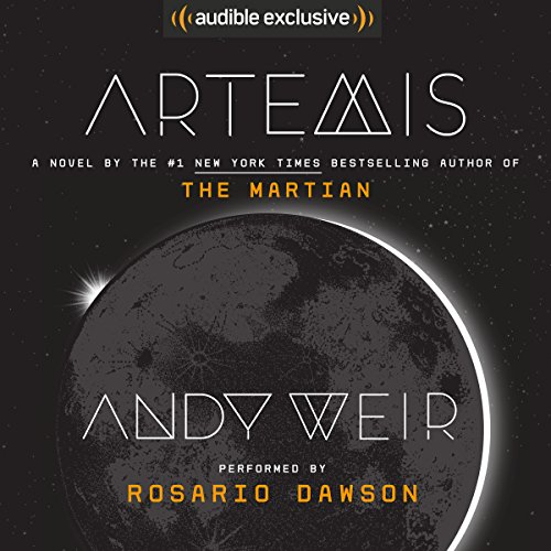 """Artemis"" by Andy Weir audiobook cover."