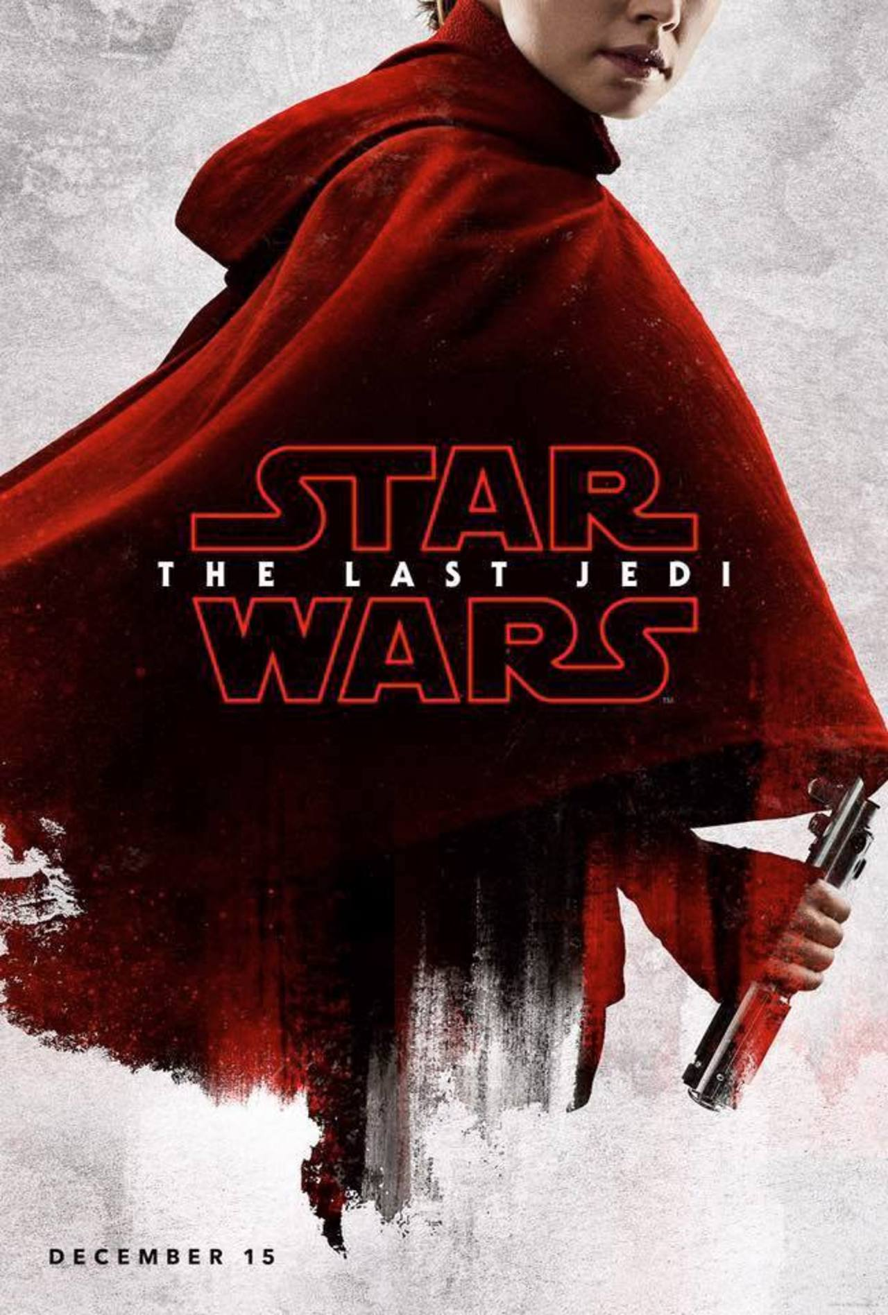 """Star Wars - The Last Jedi"" Rey promotional poster."