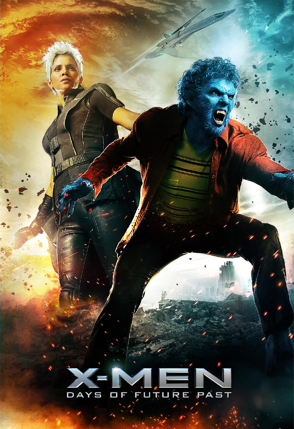 """""""X-Men: Days of Future Past"""" poster featuring Beast and Storm."""