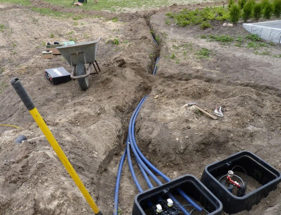 ... die Magnetventile für die Bewässerung