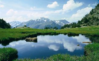 Glaciar Landscape Andorra
