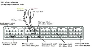 How to splice 2001 Primary o2 sensors (with diagram