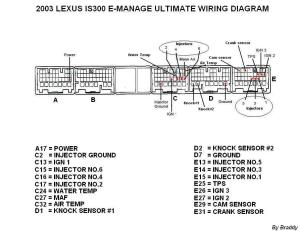 2001 and 20022005 IS300 Emanage Ultimate wiring diagram