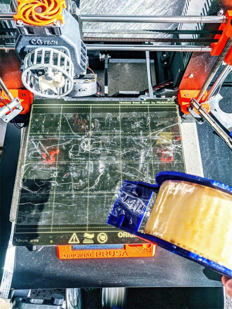 pokrycie stołu do drukowania taśmą pp