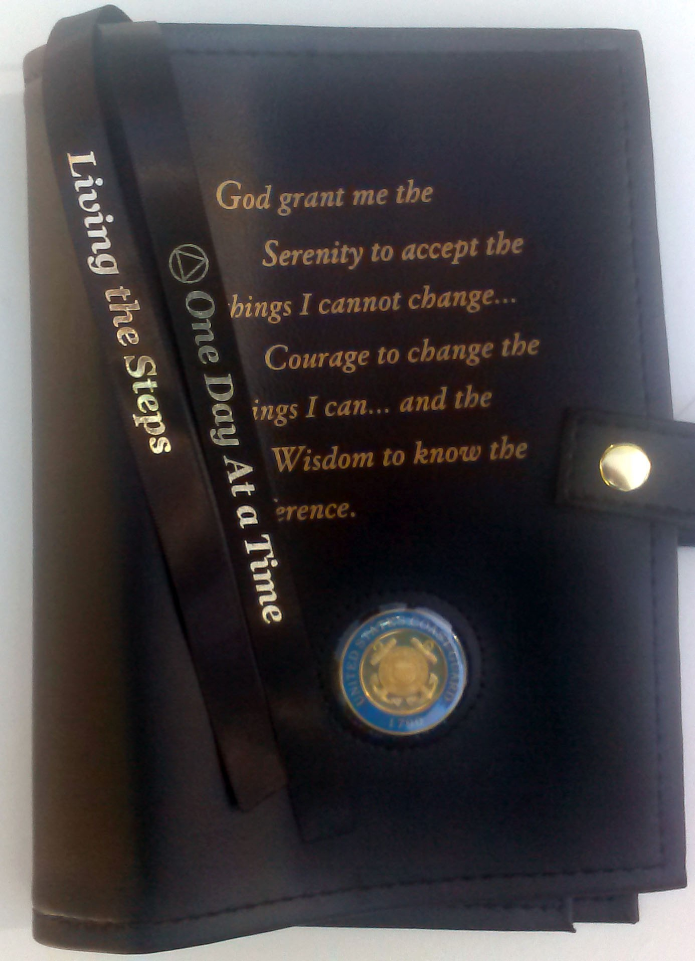 Large Print Aa Serenity Prayer Double Cover Black