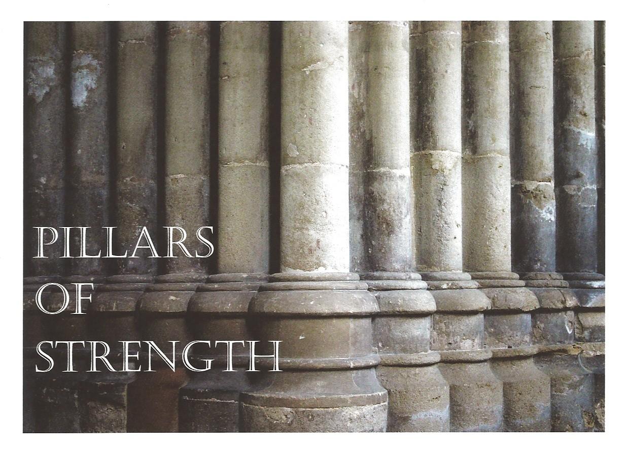 Pillars Of Strength Greeting Card
