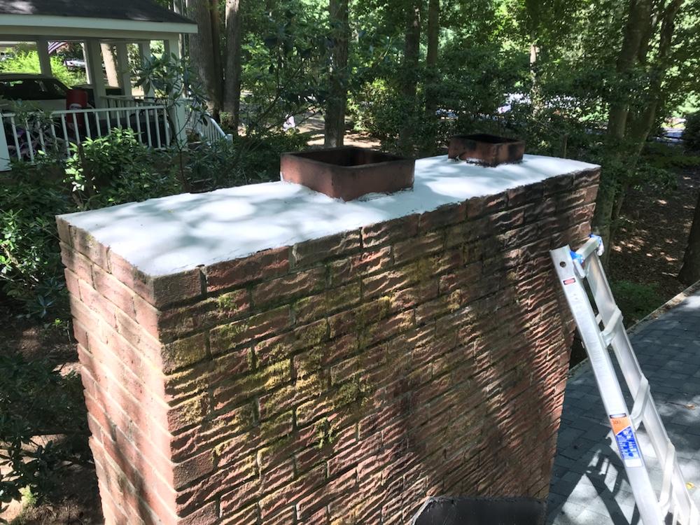 masonry chimney crown repair