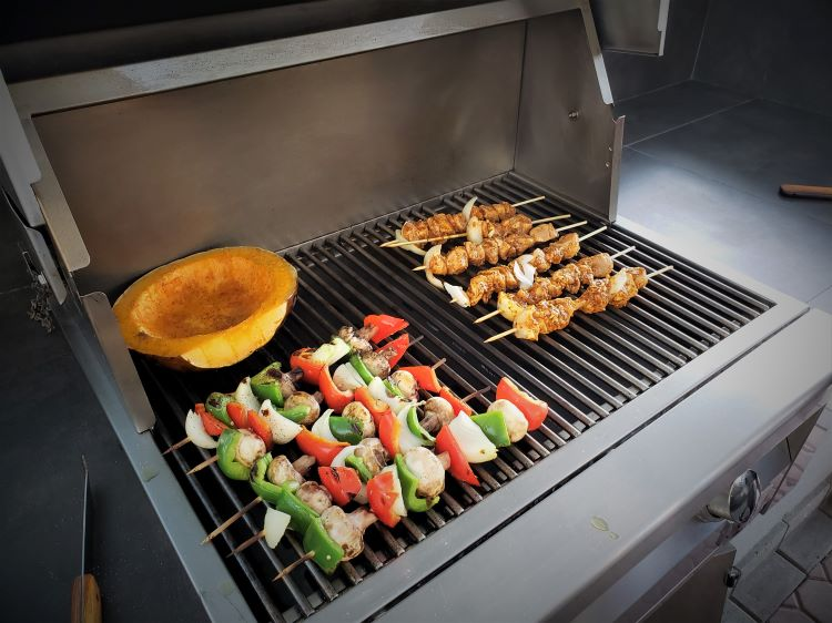 Grilling on a resort island