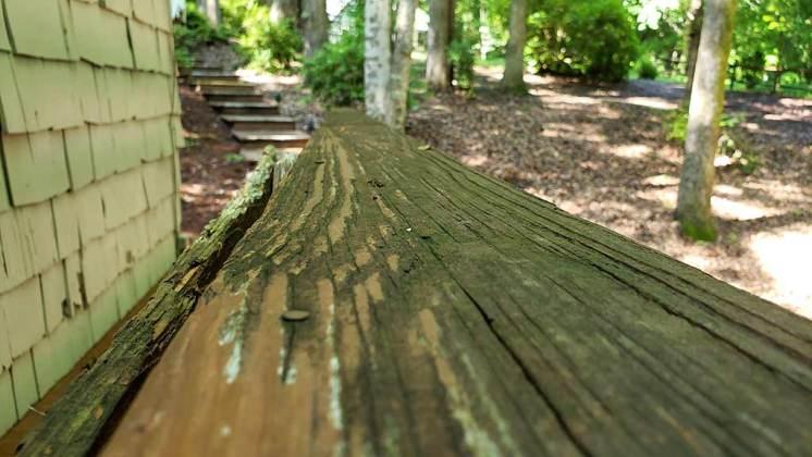 Old Deck Railing repair