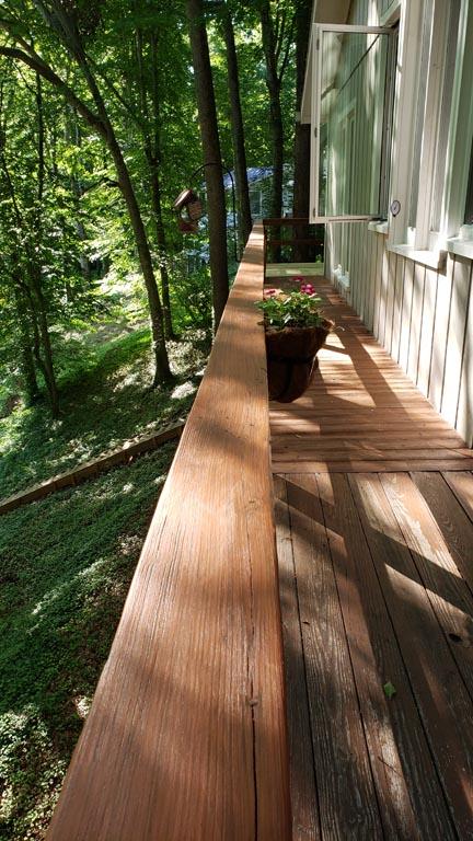 Deck Railing from Kitchen
