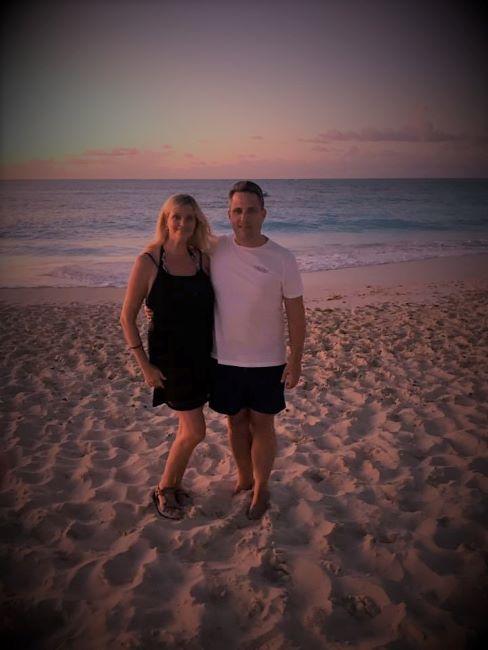 Joe and Melanie on Turks and Caicos beech