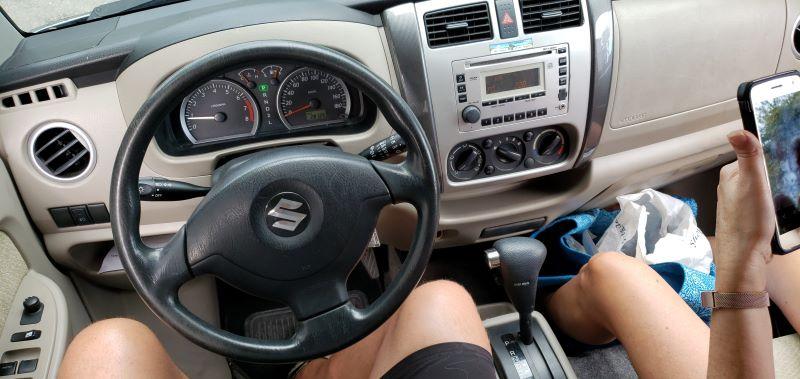 Suzuki APV interior on Turks and caicos car rental