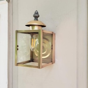 Clean and mounted Mid Century Brass Light