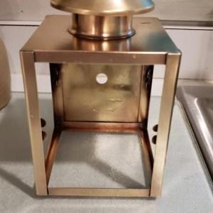 close up of a clean brass light
