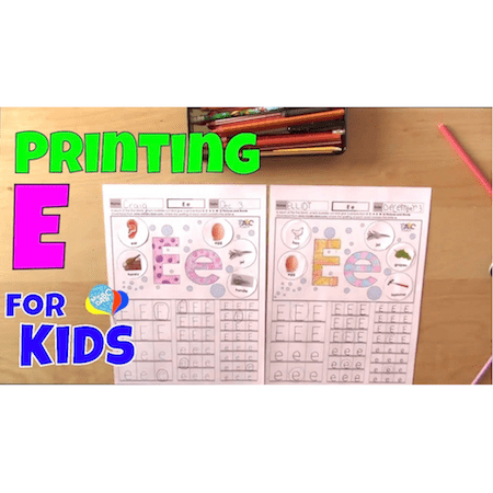 Learn How To Print Letter E For Kids | Language Arts Kids