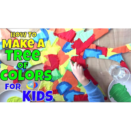 How To Make An Action Tree Of Colors For Kids | Creative Arts Kids